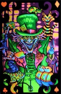 Poster psychédélique de psy art shop