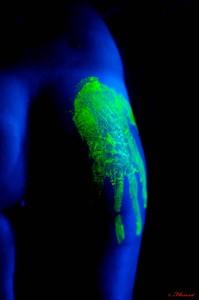 photographie peinture sur corps flu