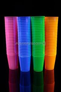 Pack verres fluo UV décoration soirée fluorescente - Psy Art Shop