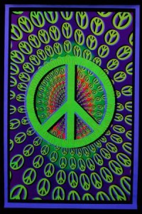 Poster Psychédélique Peace & Love by Psy Art Shop